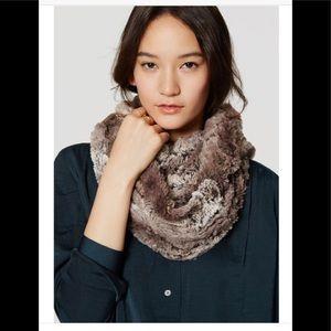 NWT Loft faux fur infinity scarf